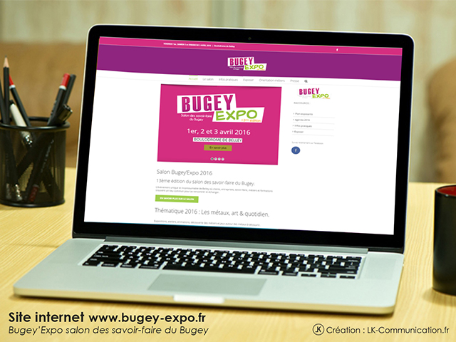 Site internet Bugey'Expo