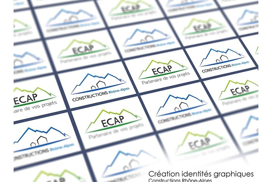 Logo ECAP et Constructions Rhône-Alpes