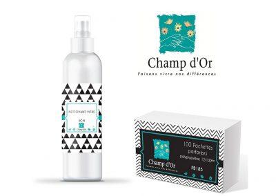 Packaging, identité graphique produits Champ d'Or