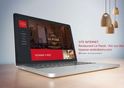 Site web restaurant Le Passé