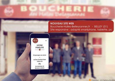 Site internet Boucherie des Halles Belleysannes