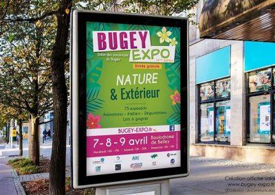 Affiche événementielle salon Bugey'Expo