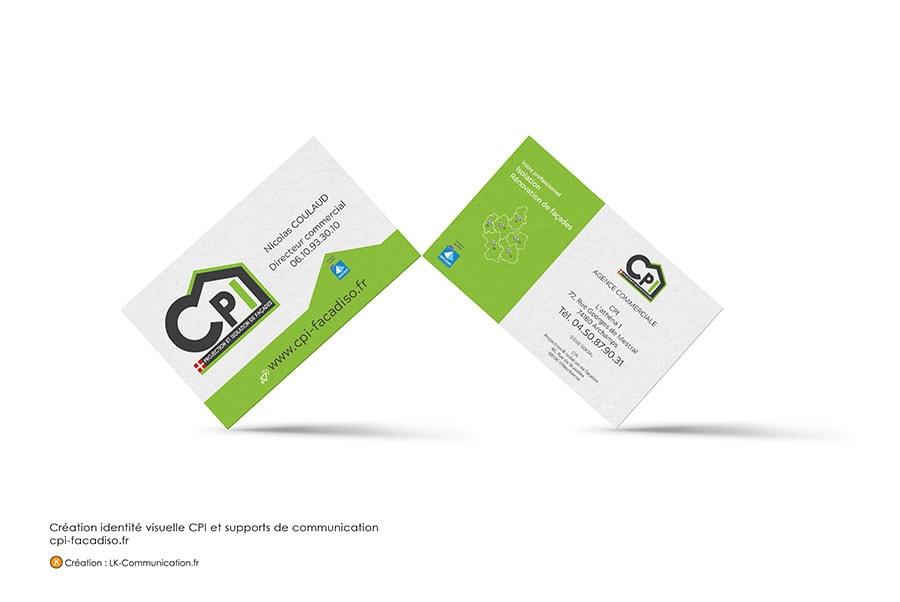 Cartes De Visite CPI Facade Isolation