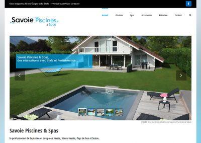 Site internet Savoie Piscines
