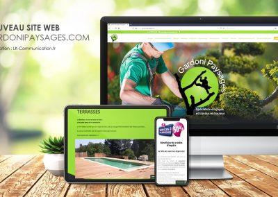 Site web Gardoni Paysages